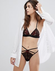 Ultimo Tokyo Nights Kioko Red Bralette And Thong Set Red