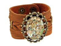 Leather Rock B902 Tobacco Bracelet Brown