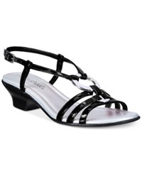 Easy Street Shoes Selena Sandals Women's Black Patent