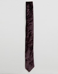 Noose And Monkey Crushed Velvet Blade Tie Purple
