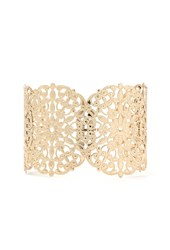 Forever 21 Filigree Medallion Cuff Gold