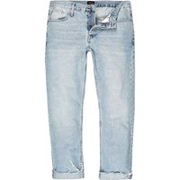 River Island Mens Light Blue Wash Cody Loose Fit Jeans