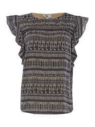 Noa Noa Short Sleeve Top Grey
