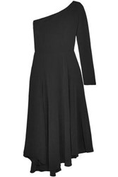 Vanessa Bruno One Shoulder Crepe Midi Dress Black