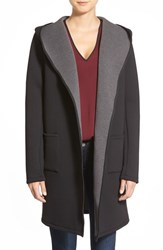 Women's Bobeau Hooded Neoprene Coat Black Grey