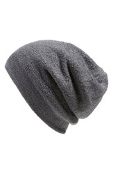 Women's Barefoot Dreams Knit Slouch Beanie Grey Graphite