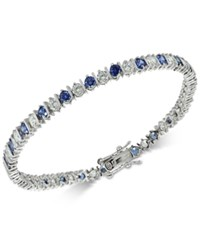 Giani Bernini Cubic Zirconia Tennis Bracelet In Sterling Silver Created For Macy's Sapphire