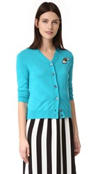 Marc Jacobs Long Sleeve Cardigan Turquoise