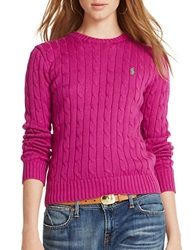 Polo Ralph Lauren Cotton Crewneck Sweater Purple