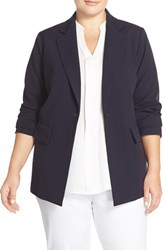 Plus Size Women's Ellen Tracy Fitted Boyfriend Blazer