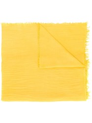Fabiana Filippi Crinkle Effect Scarf Yellow