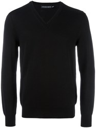 Alexander Mcqueen Deep V Neck Jumper Black