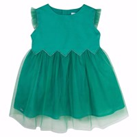 Chateau De Sable French Designer Tulle Skirt Occasion Dress Green