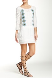 Pam And Gela Embroidered Dress White
