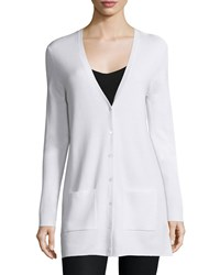 Michael Kors Cashmere Button Front Cardigan White