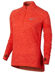 Nike Sphere Element Half Zip Running Top Max Orange Bright Melon