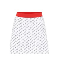 Stella Mccartney Stretch Jersey Miniskirt White