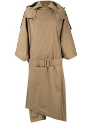 Toga Pulla Oversize Trench Coat Brown