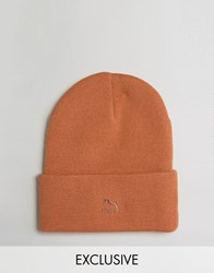 Puma Archive No 1 Beanie In Orange Exclusive To Asos 02142801 Orange