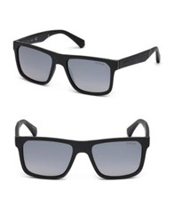 Guess 70Mm Square Sunglasses Black