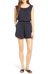 Cupcakes And Cashmere Women's Gianni Button Back Romper