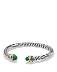 David Yurman Cable Classics Bracelet With Malachite And 14K Gold Green Gold