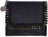 Stella Mccartney Navy Small Falabella Flap Wallet