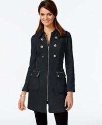 Inc International Concepts Petite Embellished Trench Coat Only At Macy's Deep Black