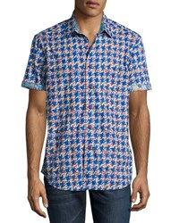 Robert Graham Johnson Valley Short Sleeve Sport Shirt Blue