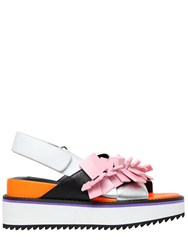 Kat Maconie 50Mm Square Charms Leather Sandals