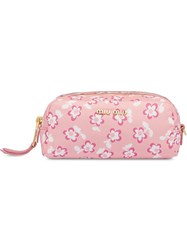 Miu Miu Faille Make Up Case Pink