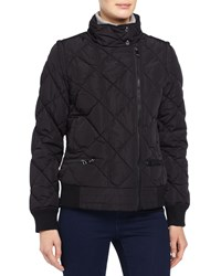 Marc New York Marc Ny Performance Quilted Puffer Moto Jacket W Detachable Sleeves Black