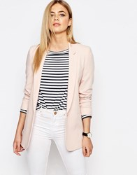 Oasis Pink Button Front Blazer Pale Pink