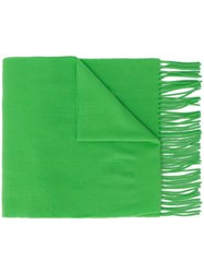 Acne Studios Animal Embroidered Canada Scarf Green
