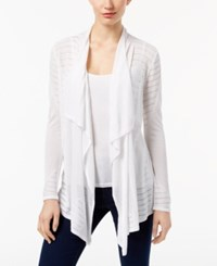 Inc International Concepts Pointelle Cardigan Only At Macy's Bright White