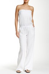 La Blanca Swimwear White Sands Strapless Linen Jumpsuit