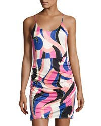 Alice And Trixie Brandi Sleeveless Graphic Minidress Pink Pattern