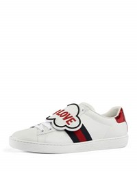 Gucci Blind For Love New Ace Sneaker White Red White Red