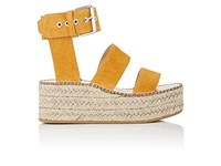 Rag And Bone Women's Tara Suede Wedge Sandals Yellow Orange