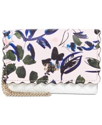 Guess Rayna Floral Double Date Wallet White
