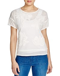 Finity Embroidered Mesh Tee White
