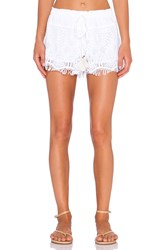 Gypsy 05 Crochet Drawstring Short White