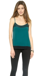 Joie Elvire Camisole Emerald With Caviar Beads