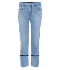 J Brand Ruby High Rise Cropped Jeans Blue