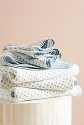 Anthropologie Dotted Jacquard Towel Collection Turquoise
