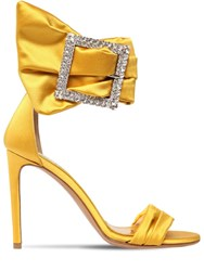 f0a09dce Alexandre Vauthier 100Mm Yasmine Embellished Satin Sandals Yellow