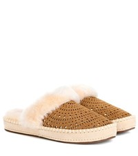 Ugg Aira Sunshine Suede Slippers Brown