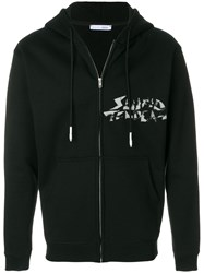 Alyx Printed Zipped Hoodie Unisex Cotton Polyester Xl Black