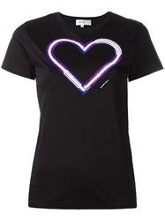 Carven Heart T Shirt Black