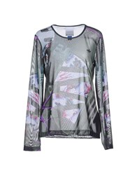 Adidas X Mary Katrantzou Topwear T Shirts Women Military Green